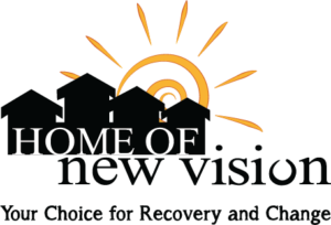 Home of New Vision logo