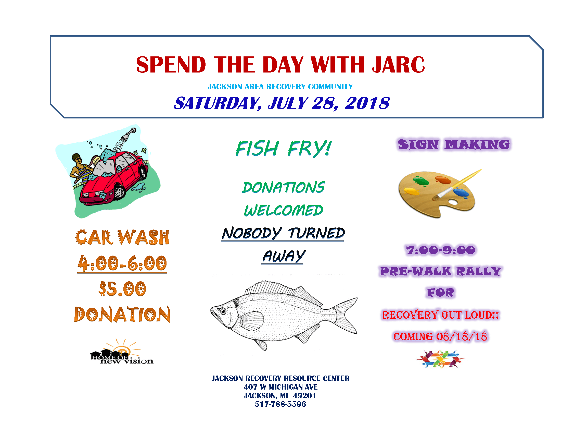 JARC Car Wash and Fish Fry Rally