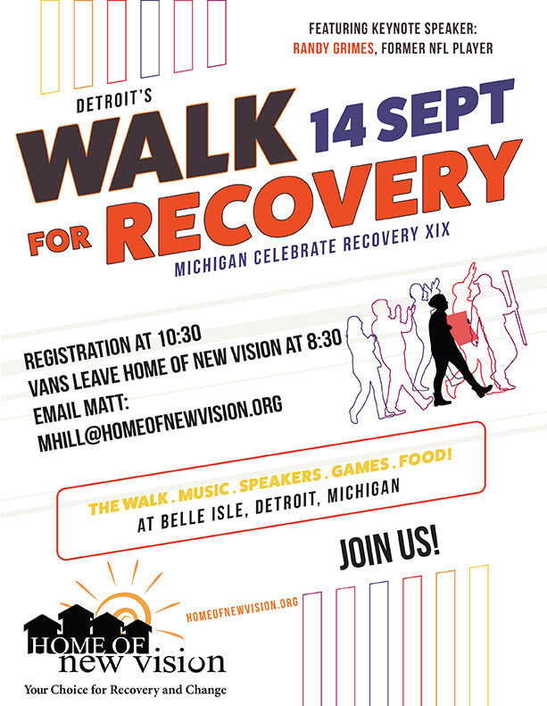 Detroit Recovery Walk Flyer