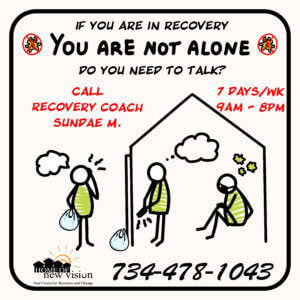 Ad for Recovery Coach support
