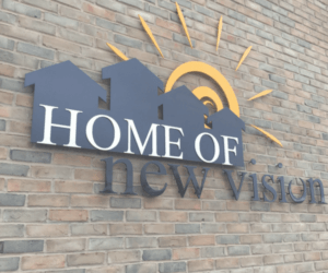 logo on side of HNV building