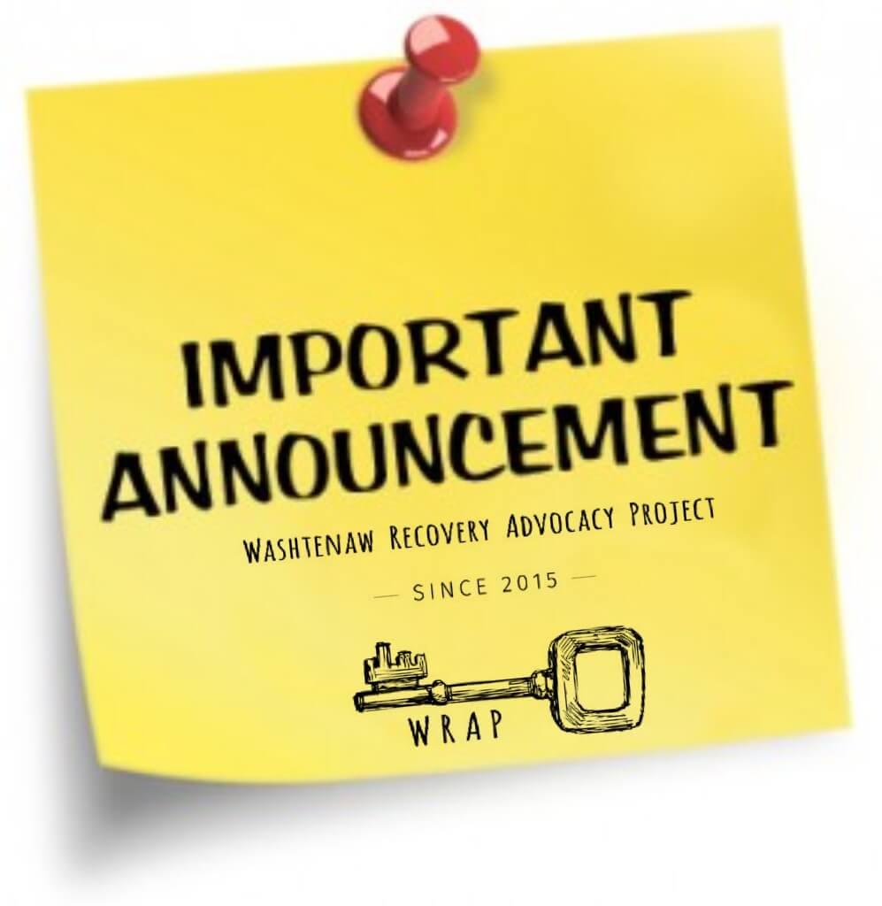 Important WRAP announcement