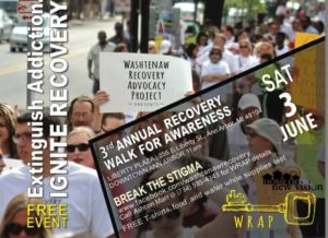 June 3rd 2017, downtown Ann Arbor is the 3rd annual WRAP walk and rally