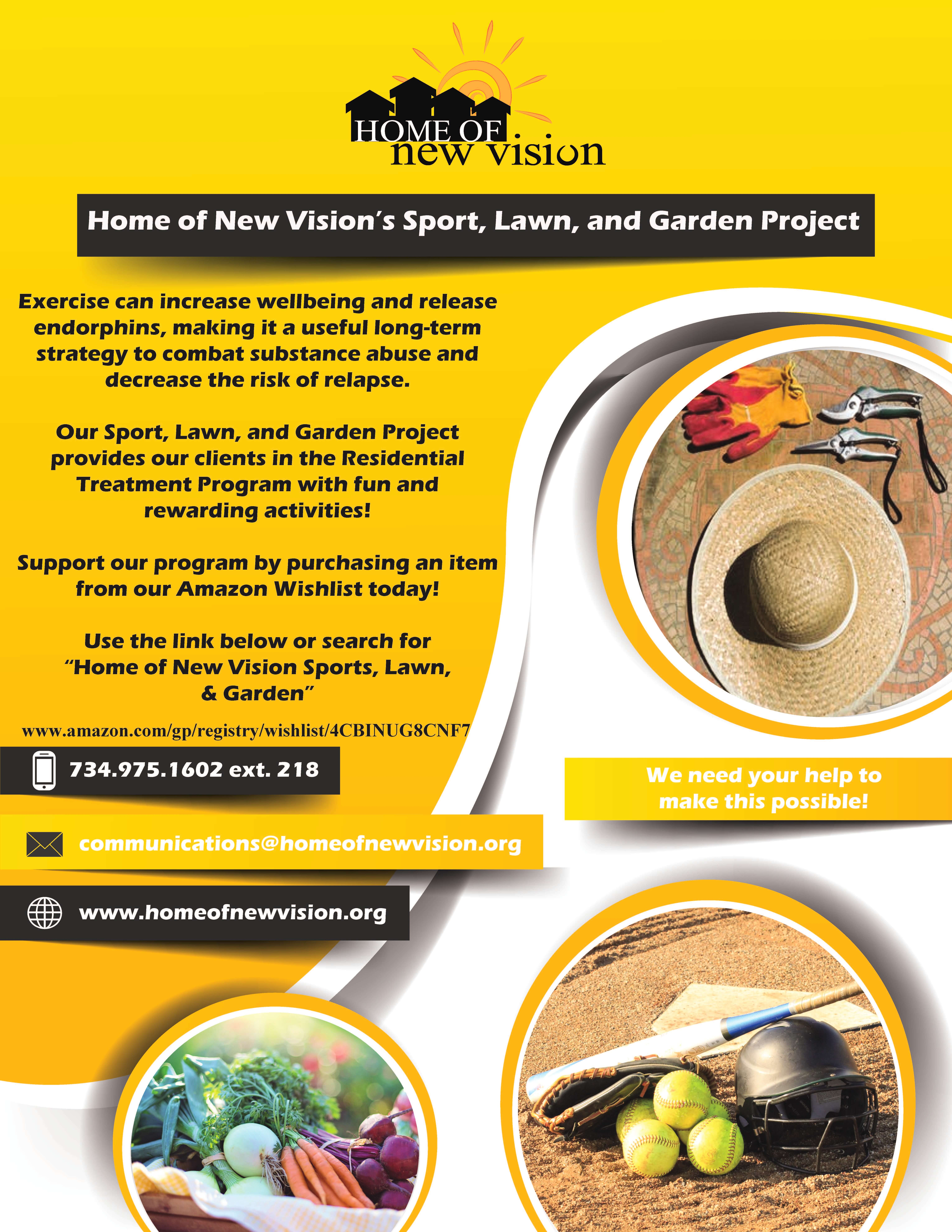 Sport, Lawn, and Garden Project | Home of New Vision