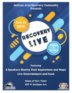 Recovery Live June 22nd in Jackson